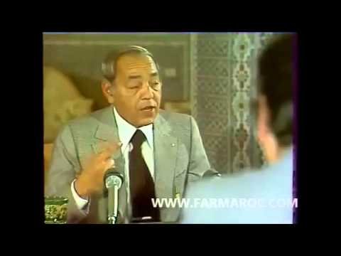 Hassan II face au public
