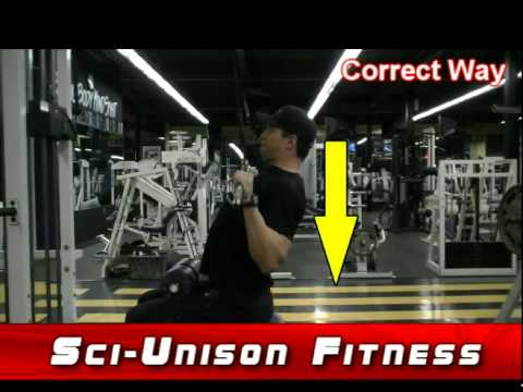 Lat Pulldowns Proper Form and Technique - YouTube