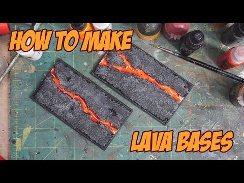 How to make lava bases