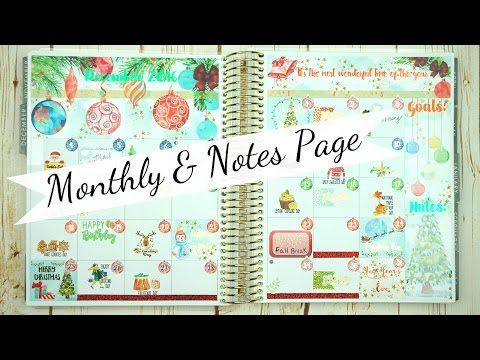 Monthly & Notes Page / Plan With Me / Erin Condren