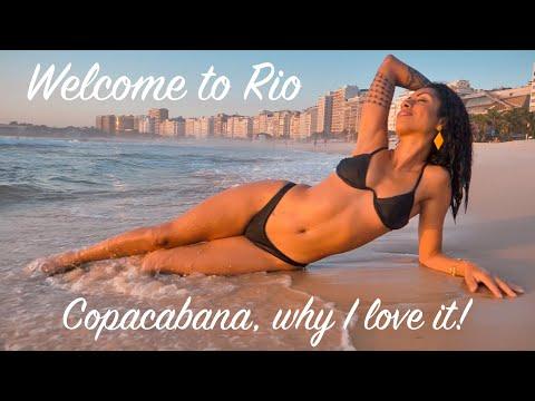 RIO BEACH LIFE! COPACABANA SUNRISE - TRAVEL VLOG shot with PANASONIC LUMIX G9