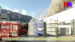 Großbrand in einem Gewerbebetrieb in Altenmarkt bei St. Gallen--UCPN
