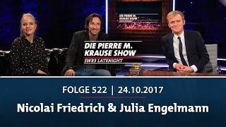Die Pierre M. Krause Show vom 24.10.2017 mit Nicolai Friedrich und Julia Engelmann