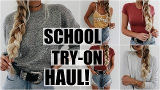 Back to School // Huge Try-On Haul!