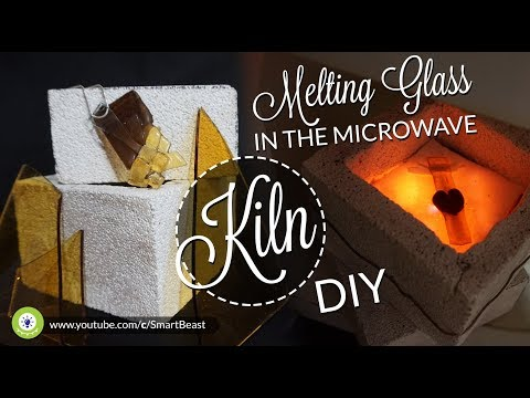 How to melting GLASS in microwave - KILN DIY