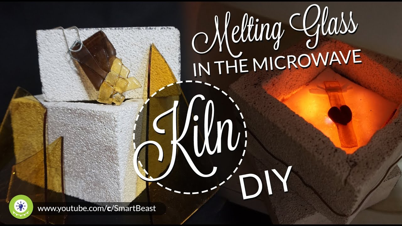 how to melting glass in microwave kiln diy