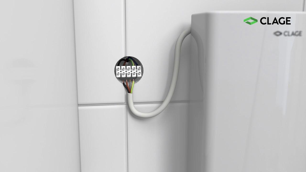 Cex Calentador Eléctrico Instantáneo Compacto Instalación Con Ducha Y Lavabo