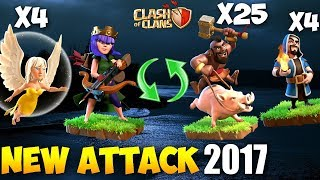 Queen Walk + Hogs: HOG RUSH NEW TH9 STRONG WAR ATTACK STRATEGY 2017 | Clash of Clans