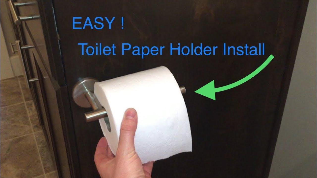 Easy Toilet Paper Holder Install Youtube