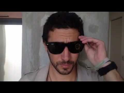 5b21a4d368 Ray-Ban RB2140 901 Wayfarer Sunglasses Size Review and Fitting - YouTube