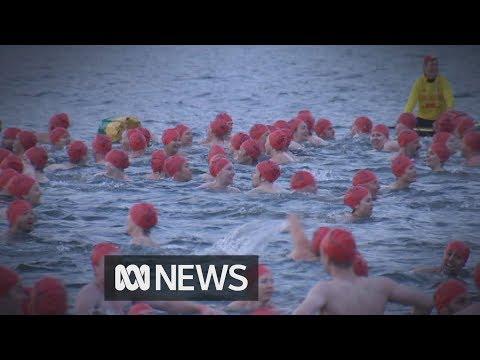 Nude winter swim ends Hobart's Dark Mofo festival