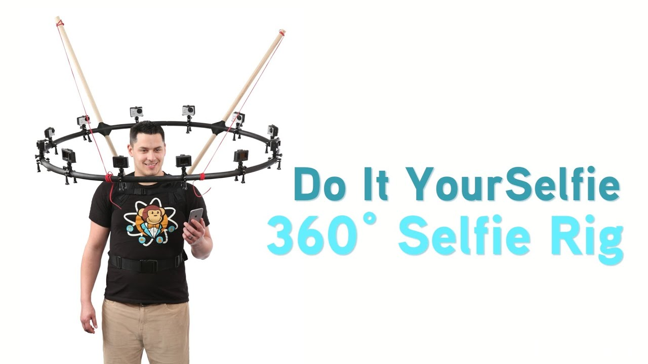 do it yourselfie 360 selfie rig from thinkgeek youtube. Black Bedroom Furniture Sets. Home Design Ideas