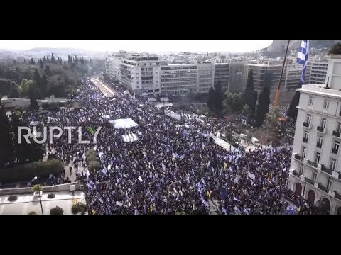Greece: Thousands flood Athens in protest over Macedonia name dispute