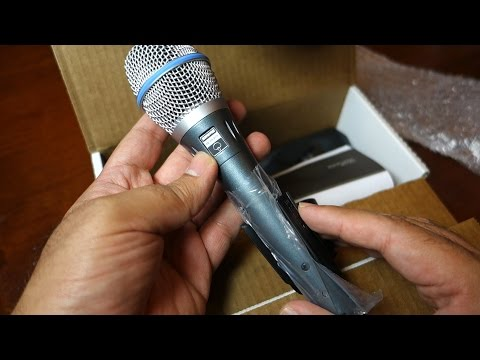 Unboxing Shure Beta 87A Super Cardioid Condensor Microphone with Sample