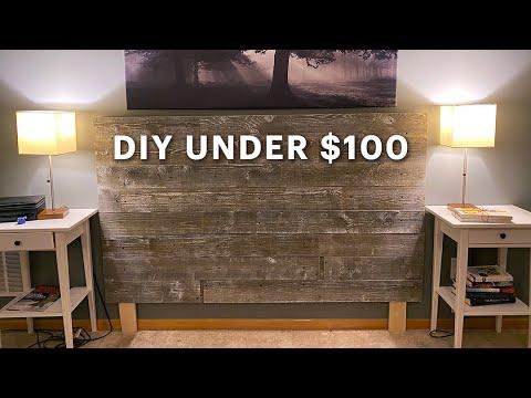 rustic barn wood headboard easy diy build for under 100