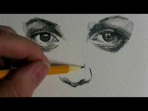 drawing-portraits---realtime---no-music---no-narration---just-drawing