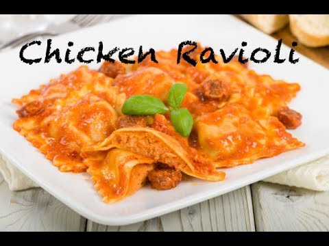 Ravioli in Creamy Tomato Sauce| Chicken Ravioli| Easy Ravioli Recipe At home| by Mallika