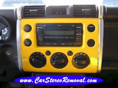 toyota fj cruiser car stereo removal and replacement youtube toyota land cruiser sound system upgrade toyota land cruiser sound system upgrade