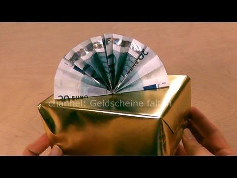 Geldgeschenke Weihnachten basteln  Geldschein falten Weihnachten  Weihnachtsgeschenk  YouTube