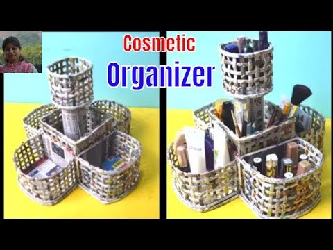 Creative Idea |Cosmetic Organizer From Newspaper | Best Out