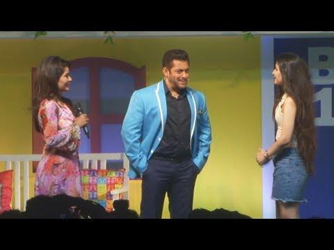 Salman Khan Behaves Like A Gentleman With 2 Beautiful Girls At Bigg Boss 11 Launch