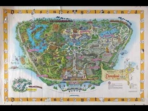 The Disneyland Map of Lost Attractions - YouTube on
