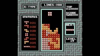 NES Tetris: all tetrises to killscreen, 1542000 pts [tool assisted]