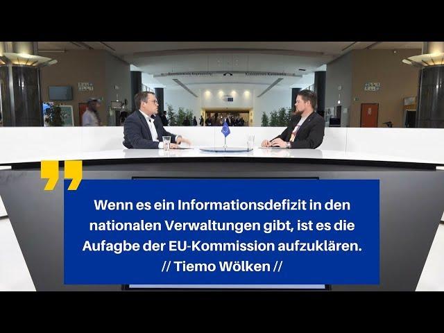 Tiemo Woelken im TALK live aus dem Europaparlament