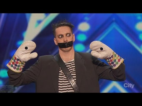 Americas Got Talent 2016 Tape Face Incredibly Inventive Comedy Act Full Audition Clip S11E01