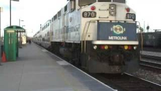 Metrolink Trains in Commerce