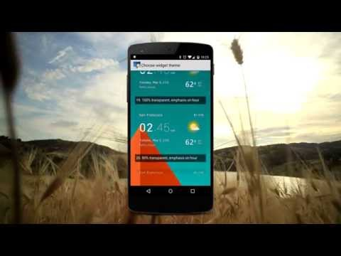Transparent clock & weather application for Android devices