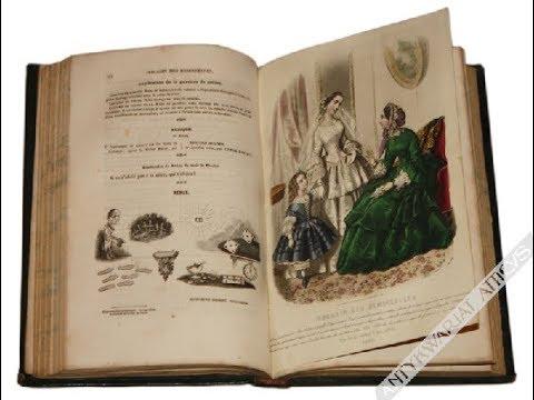 """Magasin des Demoiselles"" francuskie czasopismo o modzie z lat 1853-54 (rocznik) from YouTube · Duration:  2 minutes 12 seconds"