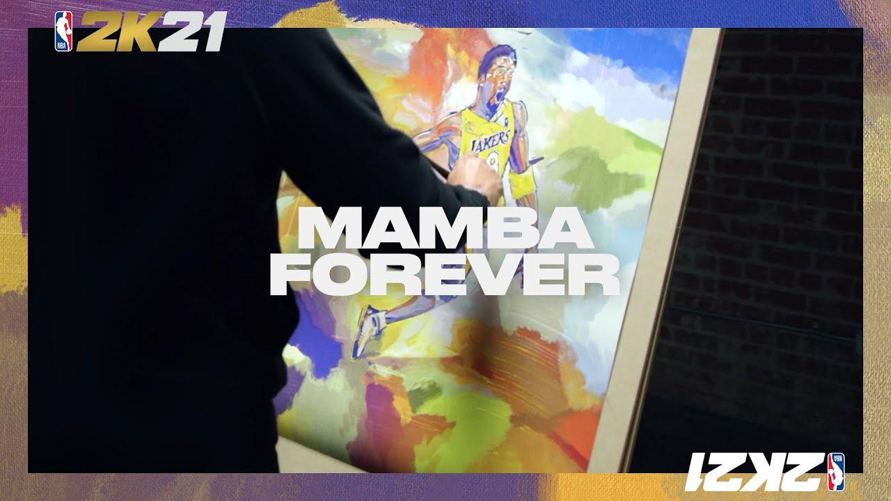 Anuncio de portada NBA 2K21 - Mamba Forever 💜💛