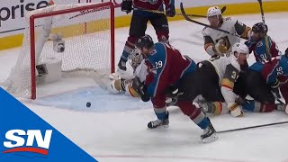 Nathan MacKinnon Buries Loose Puck After Cale Makar's Shot Ricochets Off Crossbar