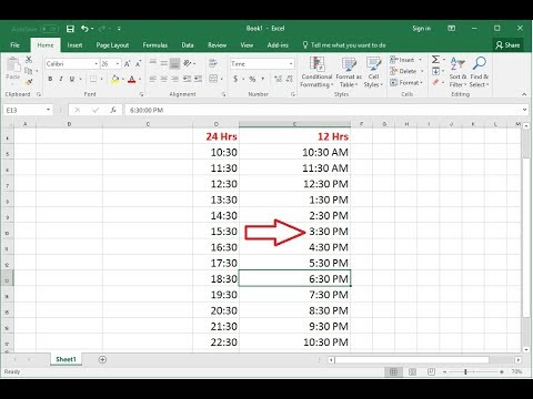 How To Convert 24 Hrs To 12 Hrs Time Formats In MS Excel (Easy)