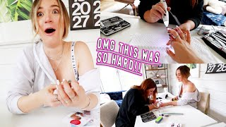 we turned our house into a nail salon!! * was this a mistake?!