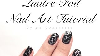 Gambar cover Quatre Foil Nail Art Tutorial
