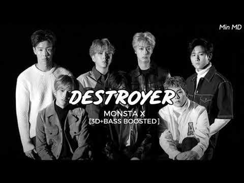 [3D+BASS BOOSTED] MONSTA X (몬스타엑스) - DESTROYER | Min MD