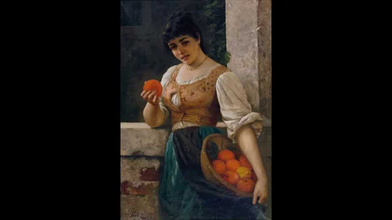 Moritz Stifter Erotica Keyhole Oil Painting on Board For
