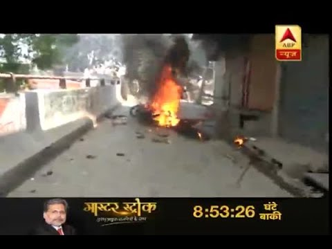 SC/ST act: Police bike torched in Ghaziabad