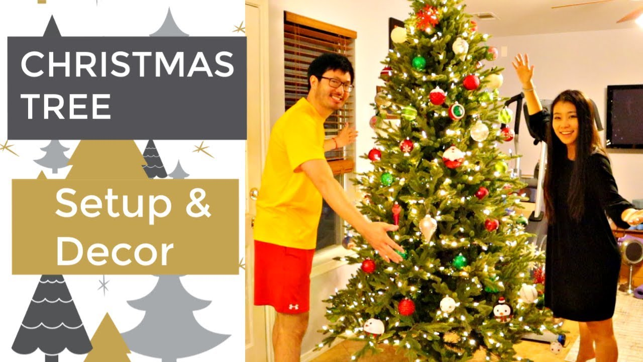 Christmas Tree Set Up And Decoration! Artificial Christmas