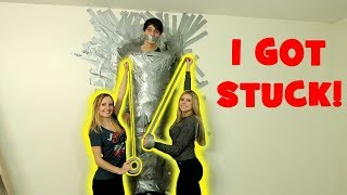 DUCK-TAPED BOYFRIEND TO THE WALL!!! (WE LEFT HIM THERE!)