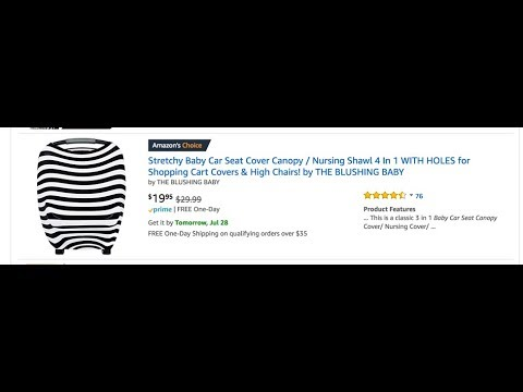 Baby Car Seat Cover Review / Shopping Cart Cover / High Chair Reviews