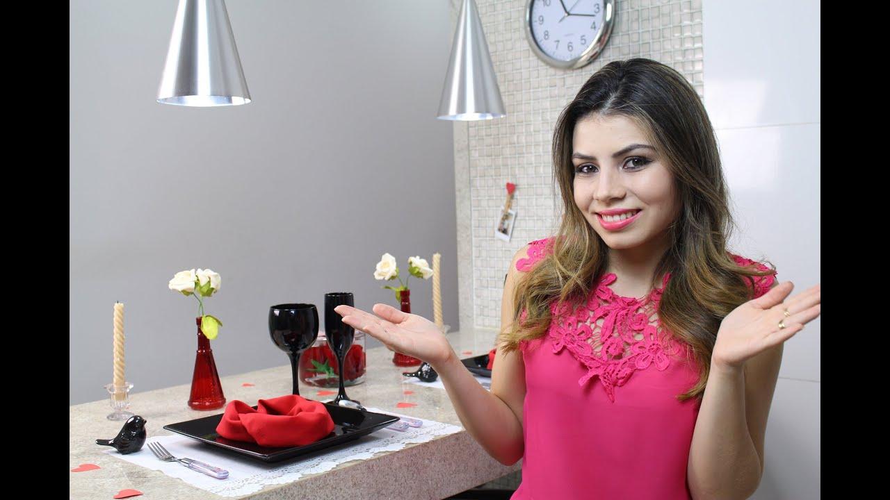 Como Decorar a Mesa pro dia dos Namorados Mesa Posta Paloma Soares YouTube -> Como Decorar Quarto Pro Dia Dos Namorados