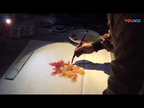 Chinese art painting : Peony Flowers