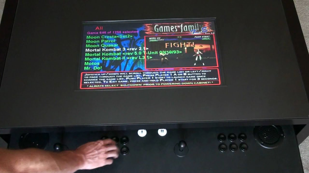 Video game arcade coffee table demo youtube geotapseo Choice Image
