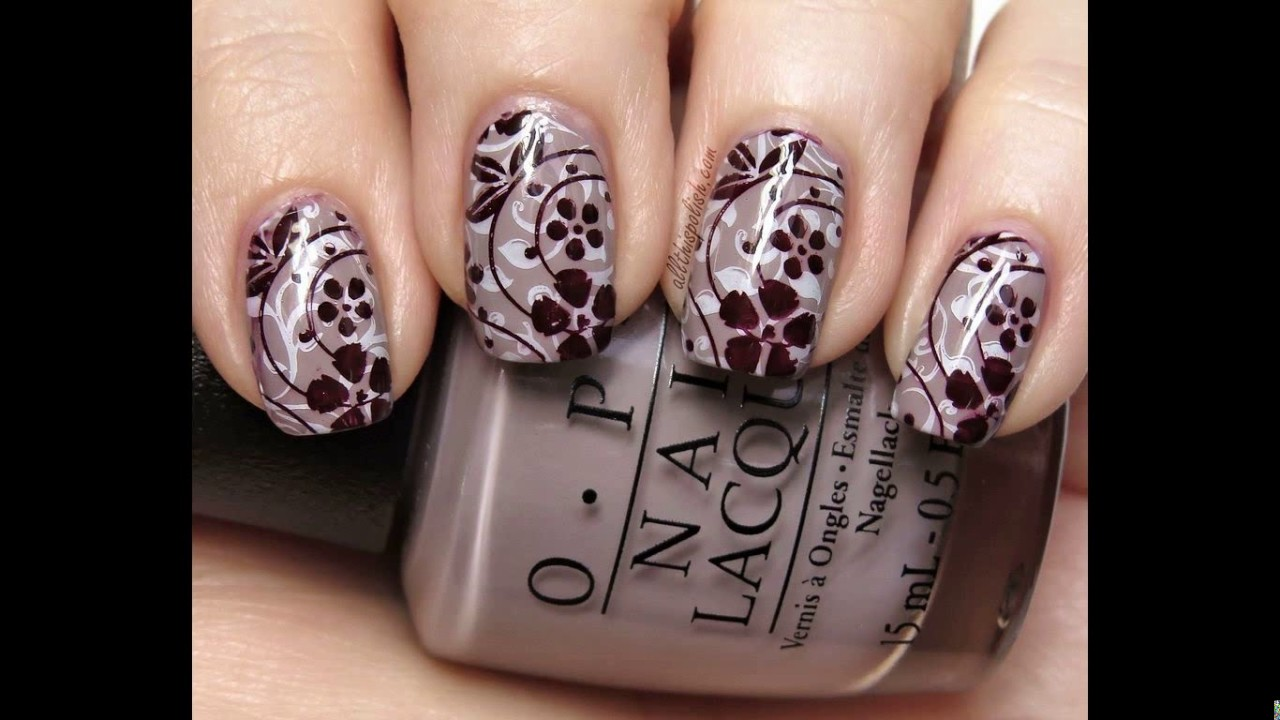 Nail stamping design ideas
