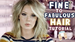EASY MESSY WAVES | HOW TO MAKE FINE HAIR LOOK FULLER