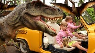 Идем в Парк Динозавров СТРАШНЫЙ ДИНОЗАВР Контактный ЗООПАРК в Динопарке GIANT LIFE SIZE Dinosaur