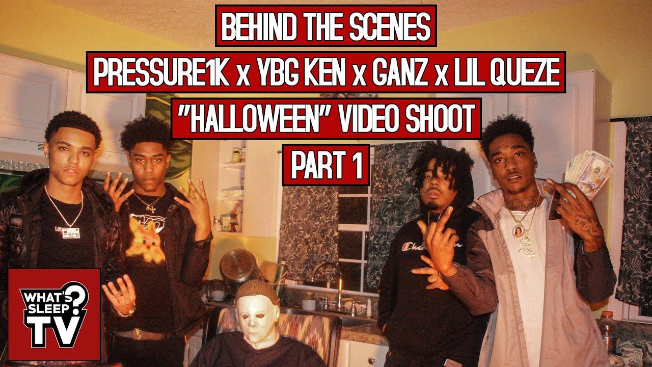 """Behind The Scenes Of Lil Queze, Pressure1k, YBG Ken, & Ganz' """"Halloween"""" Video Shoot (Part 1)"""